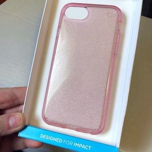 speck Accessories - Speck iPhone 6/7/8 Presido Pink Clear+Glitter Case